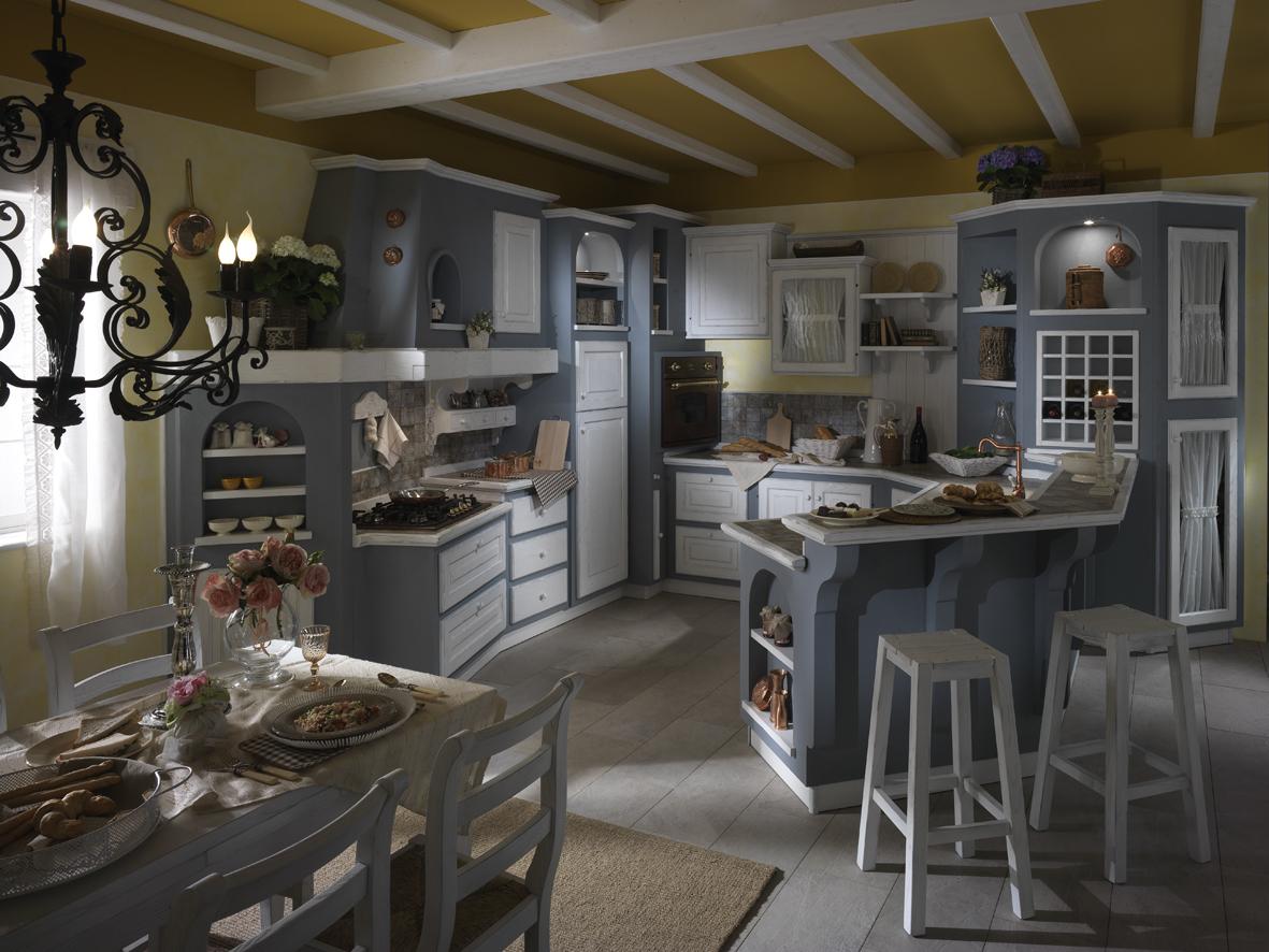 Cucine country pittori casa arredo - Cucina in muratura country ...