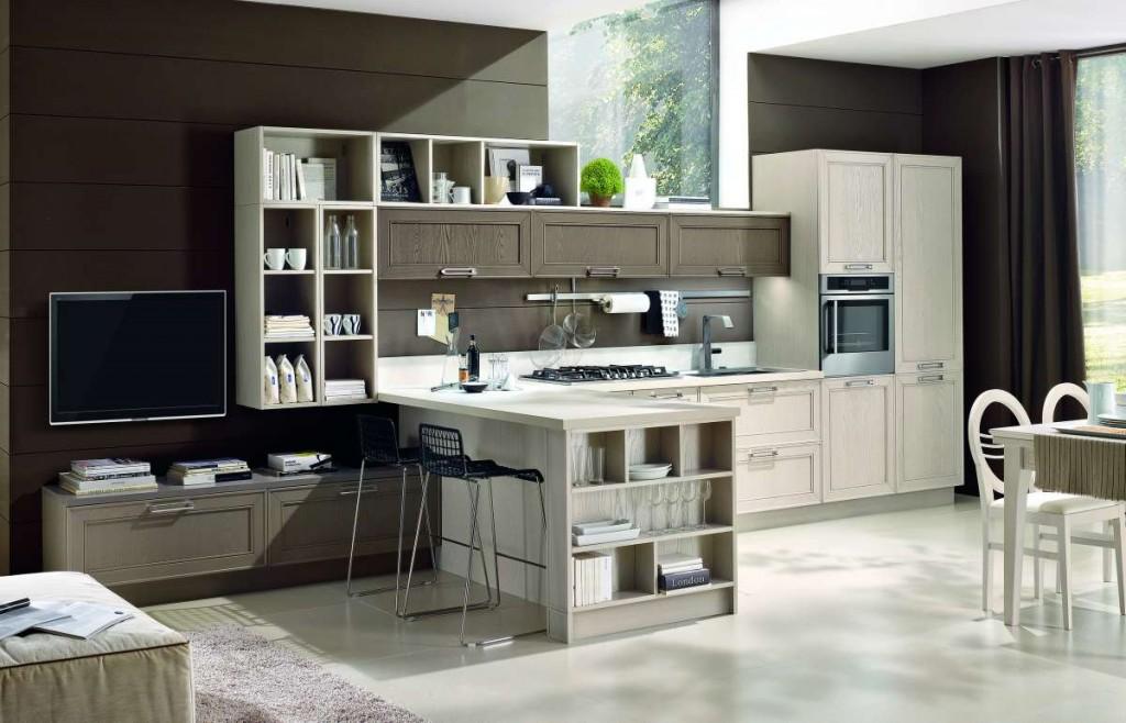 cucina classica bianca personalizzabile