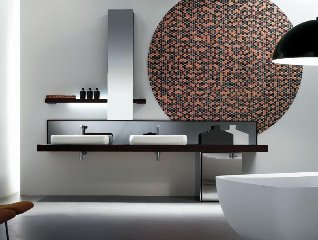 bagno moderno con vasche appoggio